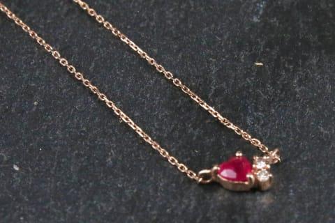K10 Ruby Diamond Necklace
