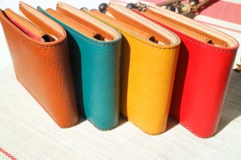 【CHIMERA】イタリアンレザー 二つ折り財布(小銭入れ付き)