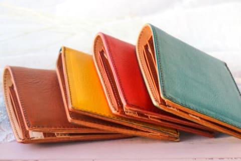 【CHIMERA】イタリアンレザー二つ折り財布 (お札&カード)