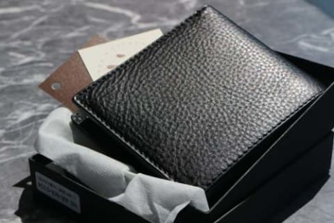【CHIMERA】二つ折り財布(小銭入れ付き)(ブラック)