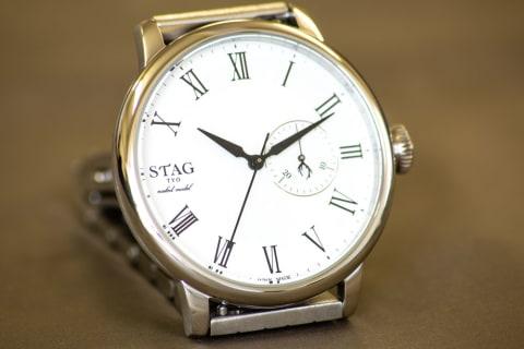【スタッグティーワイオー】STG020/カレンダー機能付きチェンジャブル時計