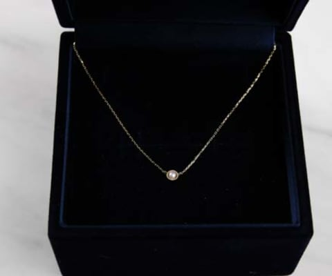K10YG Tiny Motif Diamond Necklace