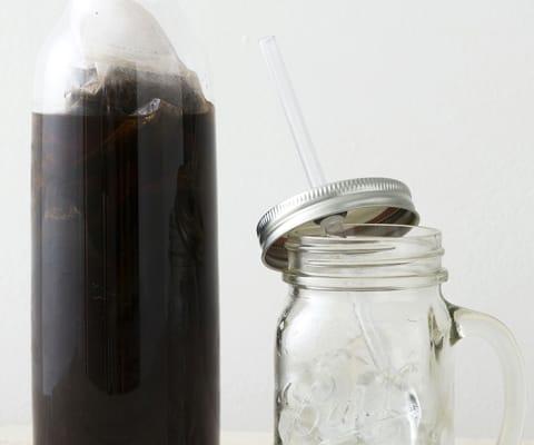 カフェインレス水出しコーヒー(12バッグ)&KINTOブラウンボトルセット