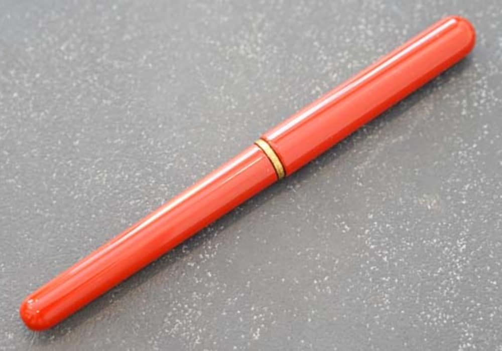 唐様三昧 漆塗り携帯用筆ペン(花更紗柄筆ペンケース)