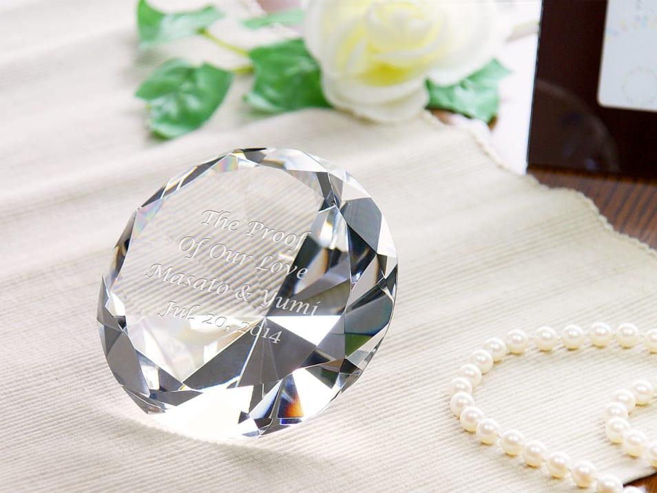 【名入れギフト】ダイヤモンドオブジェ