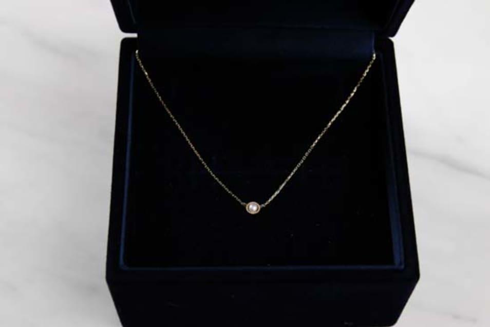 K10YG Tiny Motif Diamond Necklace