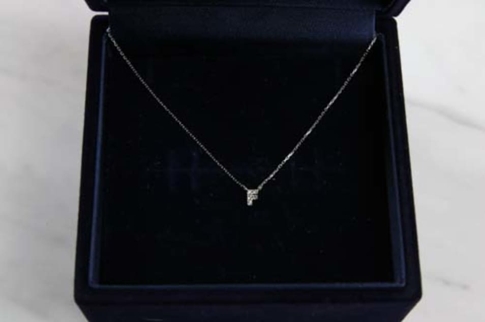 K10 Tiny Initial Necklace
