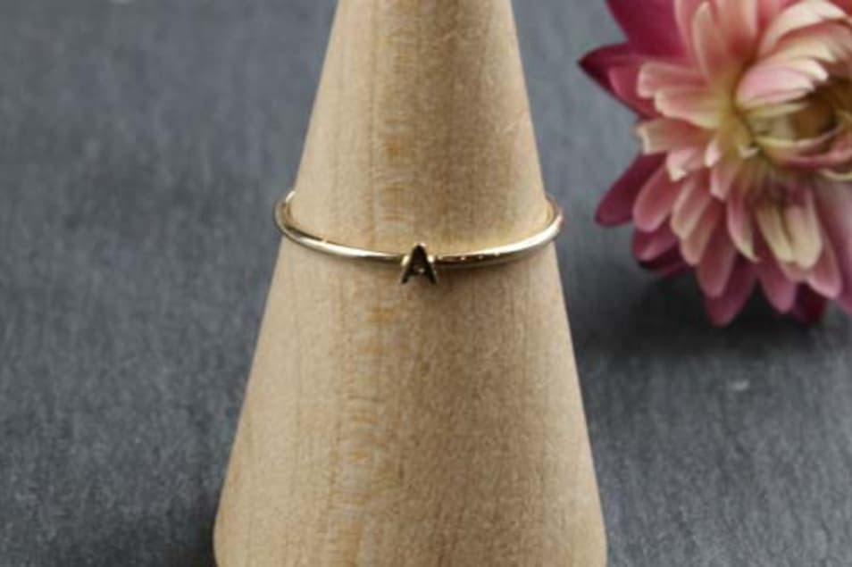 K10 Tiny Initial Ring