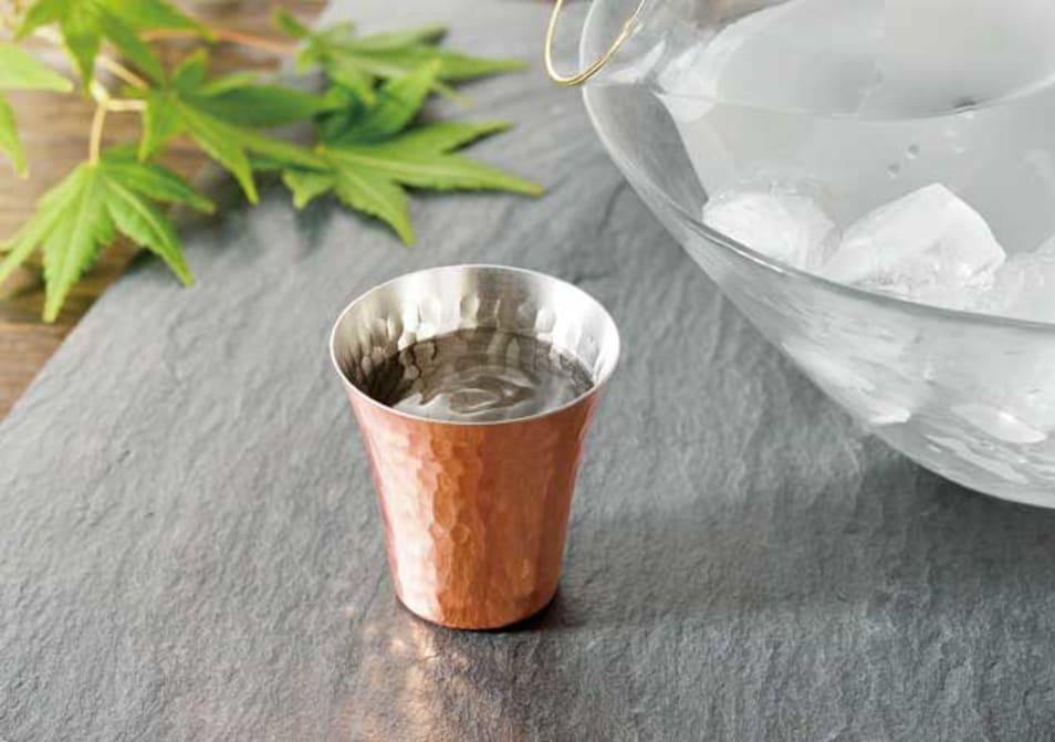 純銅冷酒カップ2PCセット-CNE982