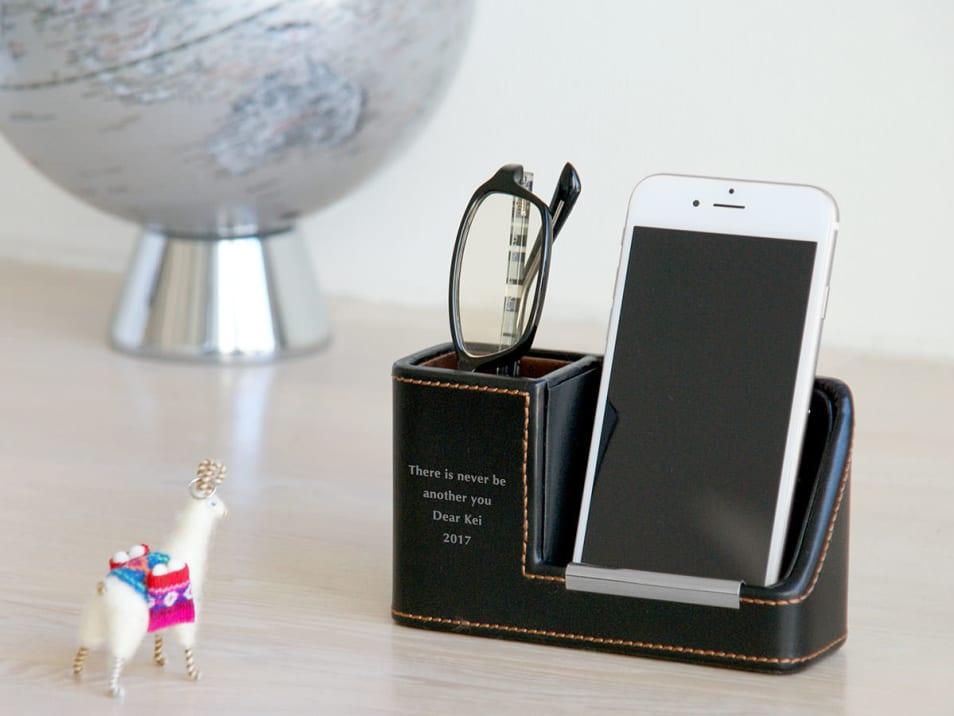 モバイル&メガネスタンド ブラック