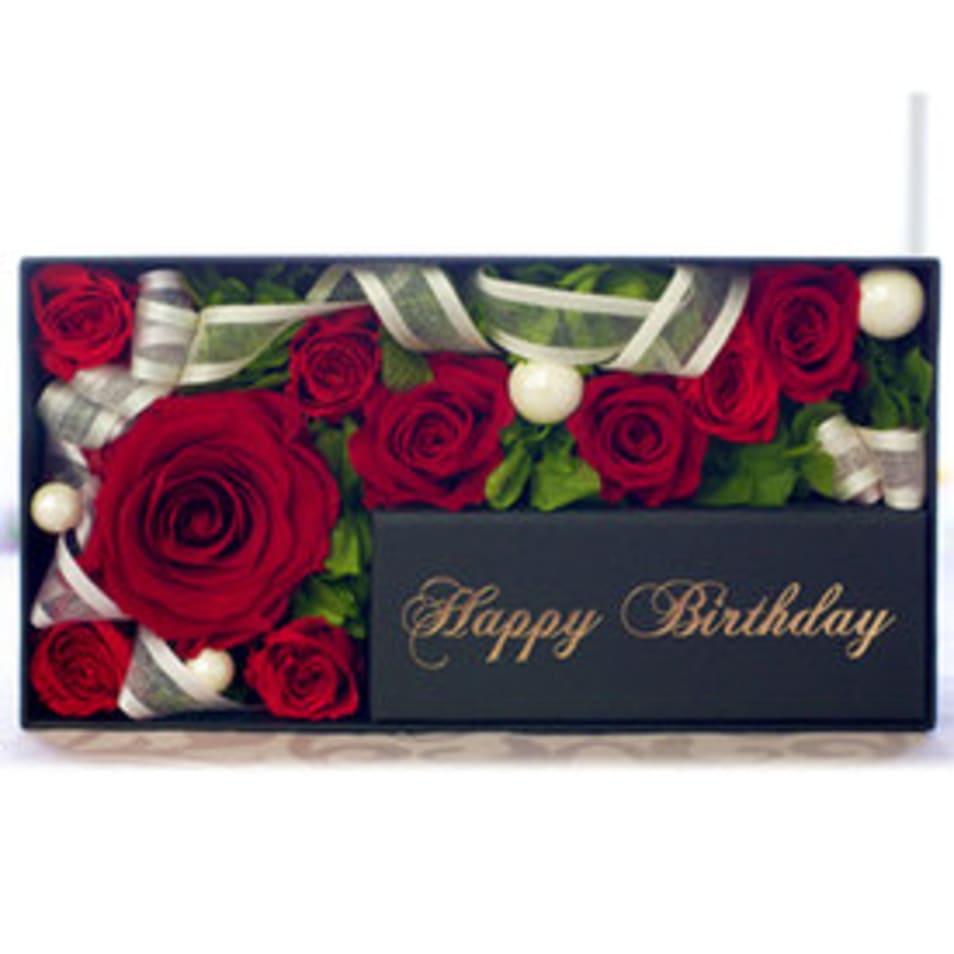 メモリアルメッセージボックス-Happy Birthday