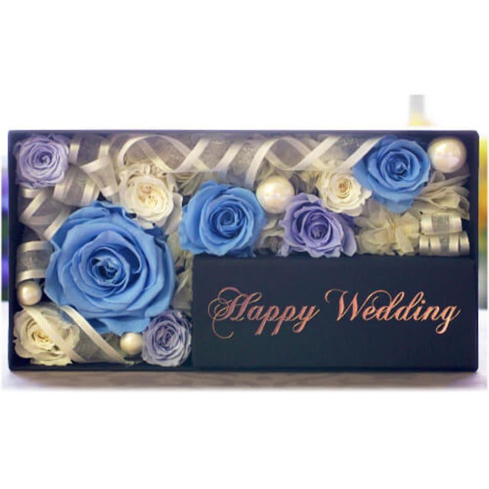 メモリアルメッセージボックス-Happy Wedding