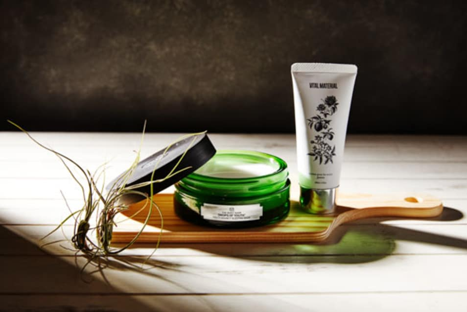 THE BODY SHOP FACE MASK &VAITAL MATERIAL HAND CREAM SET