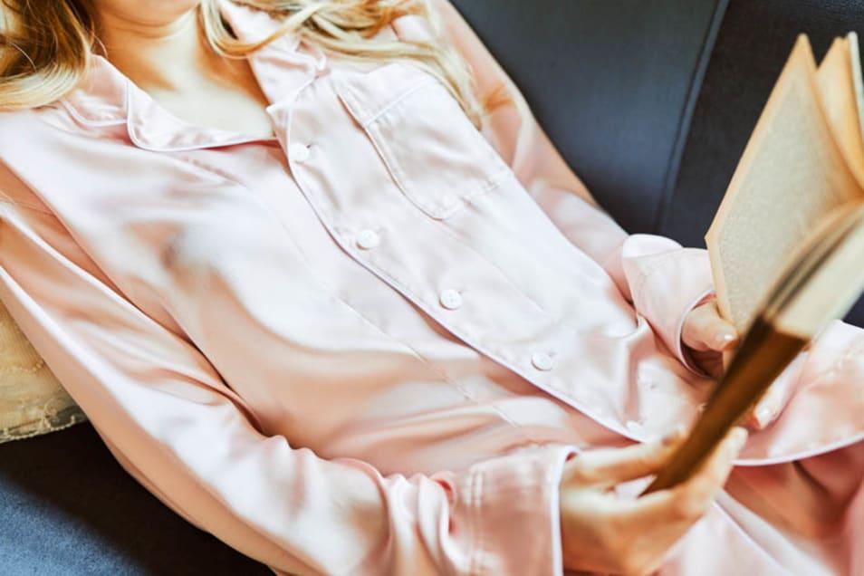 【Foo Tokyo】パジャマ シルク トップス ピンクゴールド