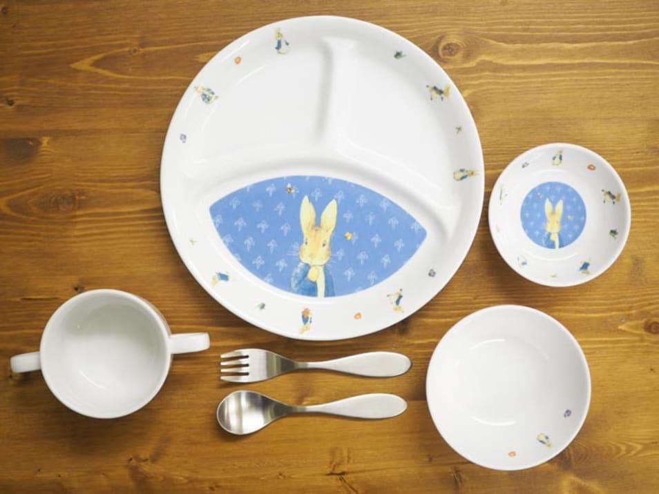 【おぎそ】ピーターラビットの食器&スプーンフォークセット