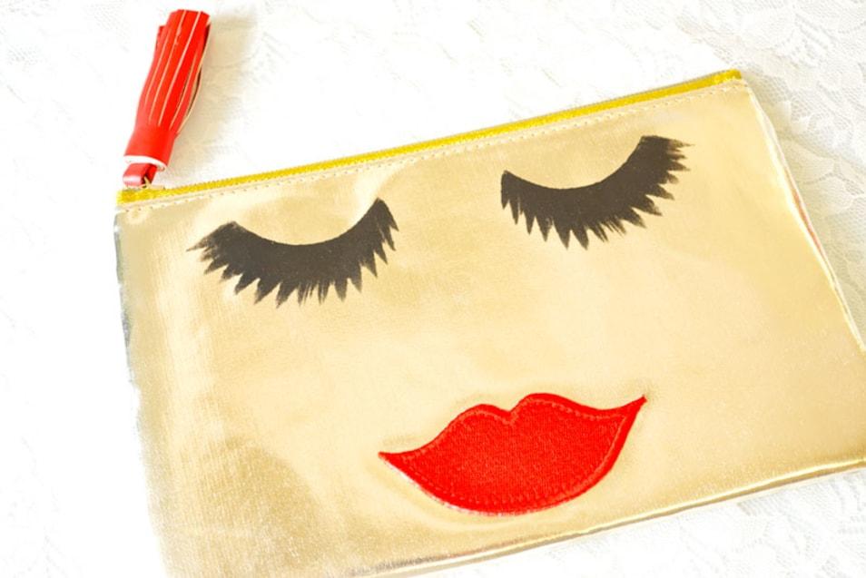 【Emma Lomax】Gold beautiful Lade Make Up Bag