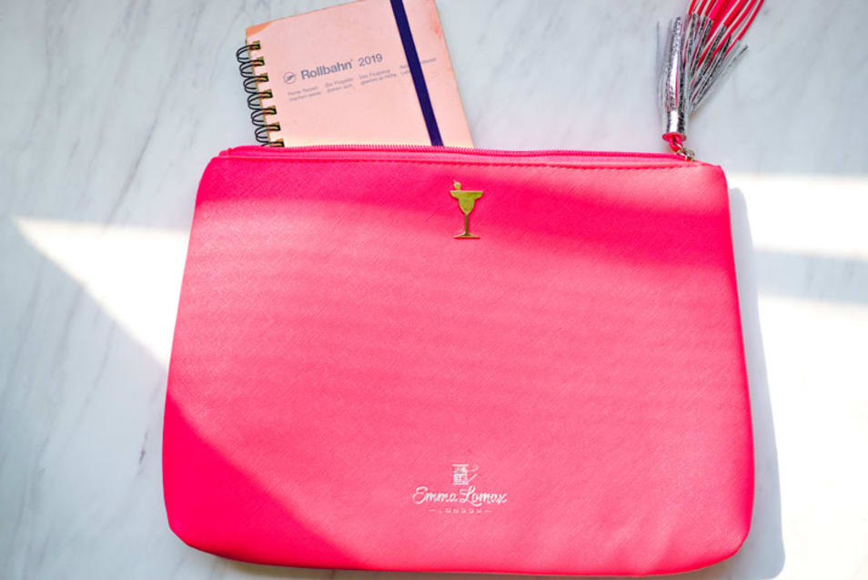 【Emma Lomax】Sailors' Delight Pink Leather Clutch