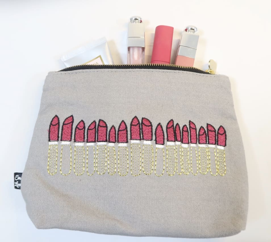 classic lipstick pouch Noir