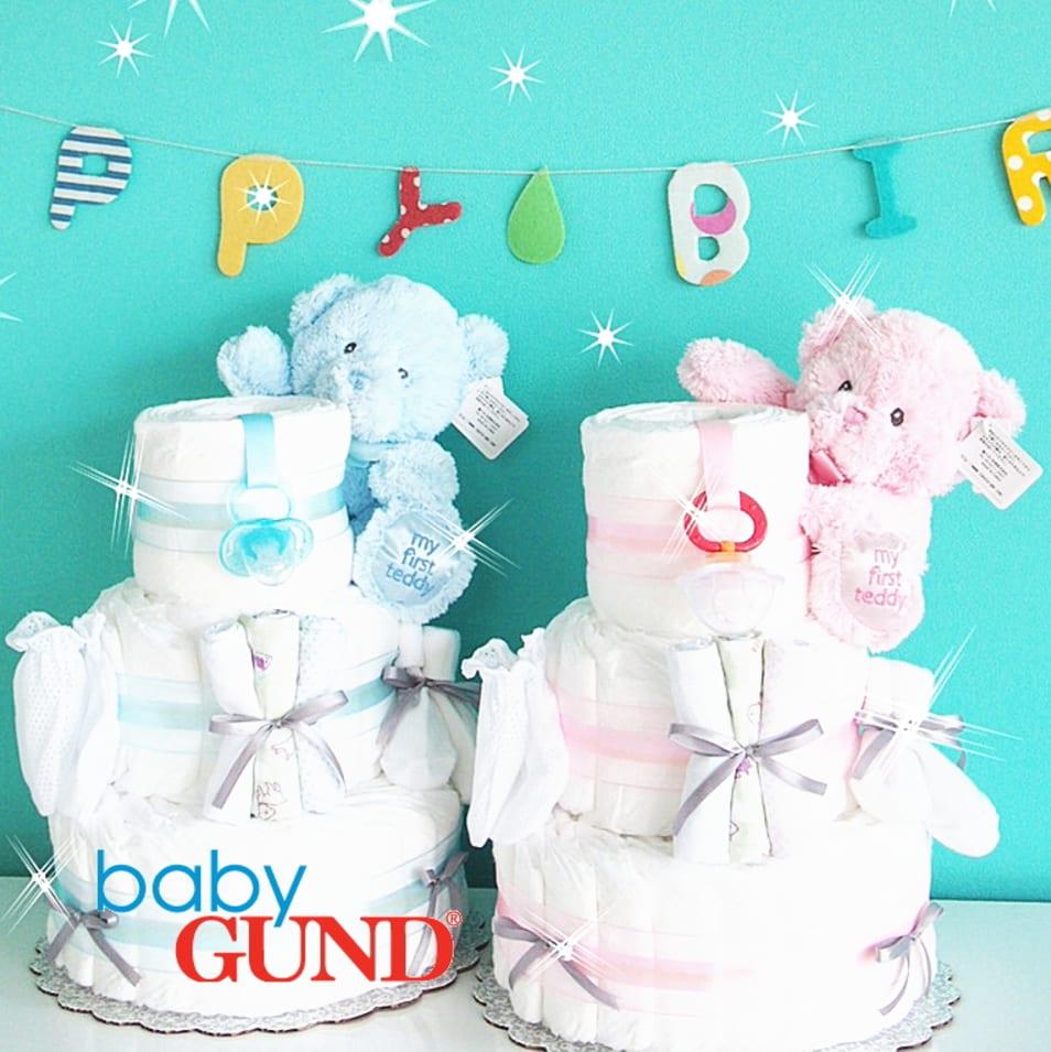 【AIRIM baby】3段マイファーストテディおむつケーキ