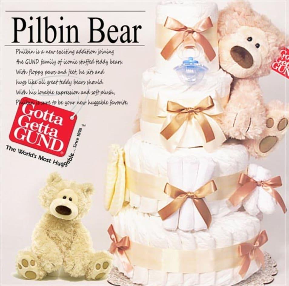 【AIRIM baby】4段フィルビンおむつケーキ