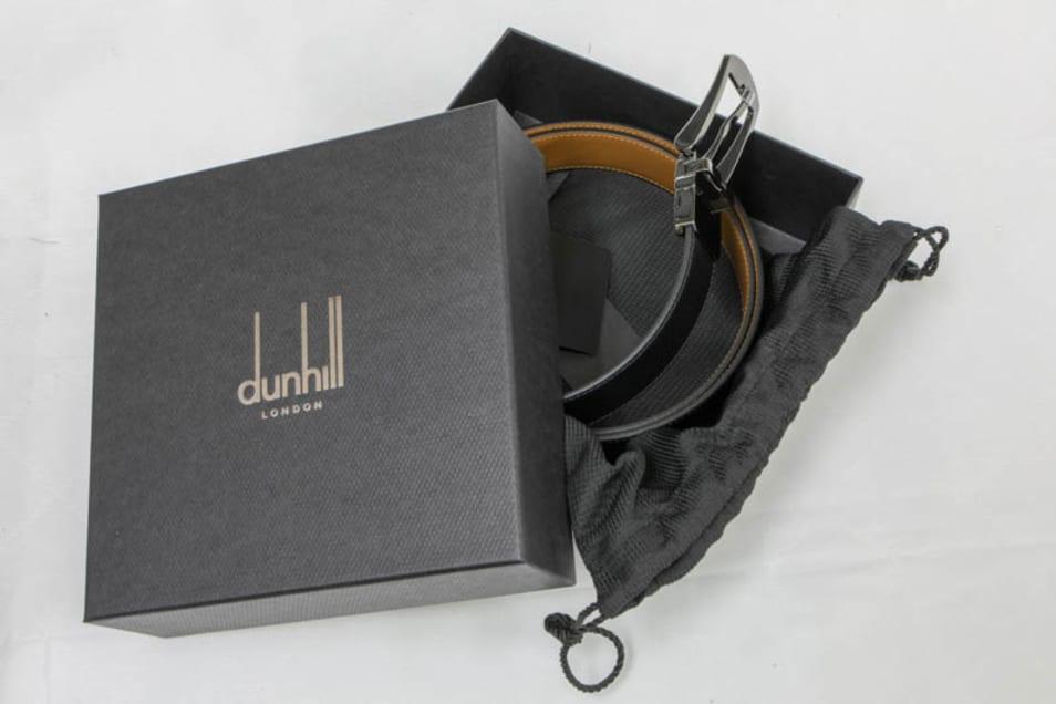 【dunhill】ベルト 回転式バックル リバーシブル