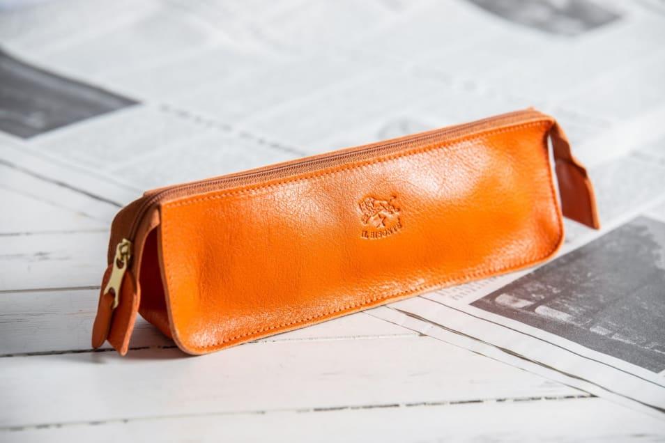 【IL BISONTE】  Zipペンケース orange/66