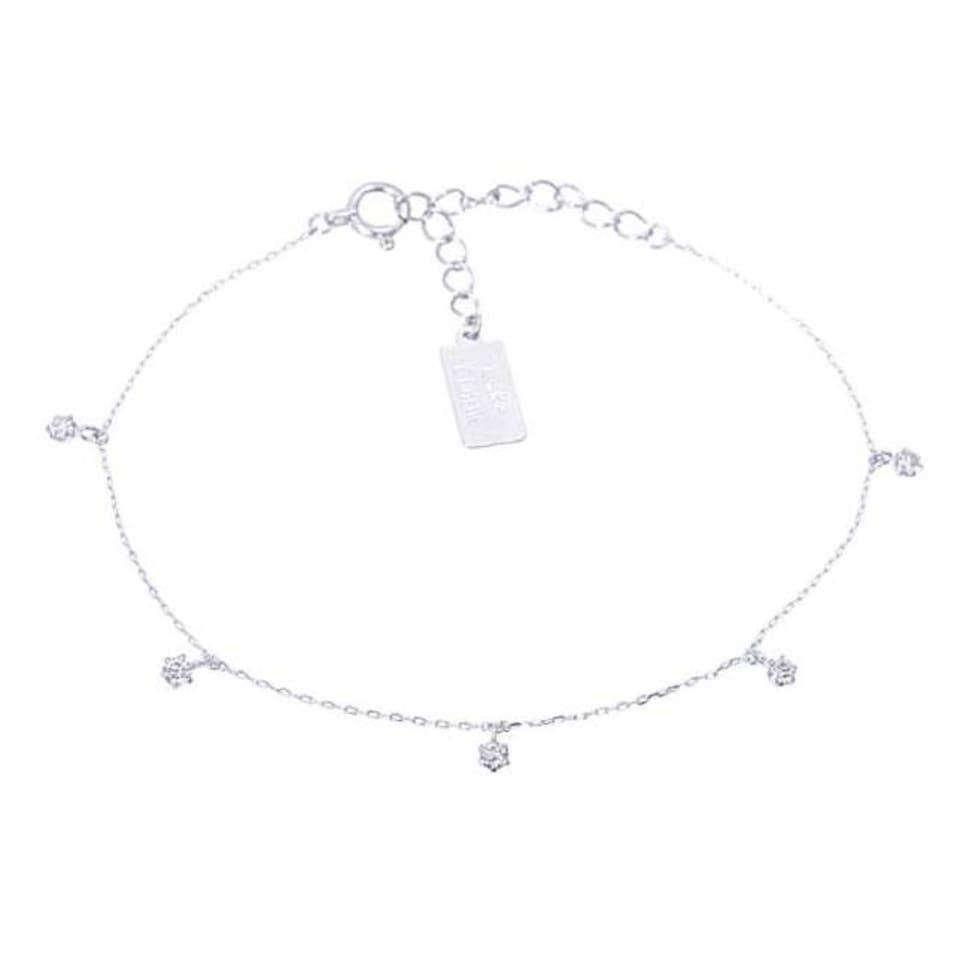 ダイヤモンドブレスレット ベイビーズ ブレス 0.15ct プラチナ Pt900 ララクリスティー