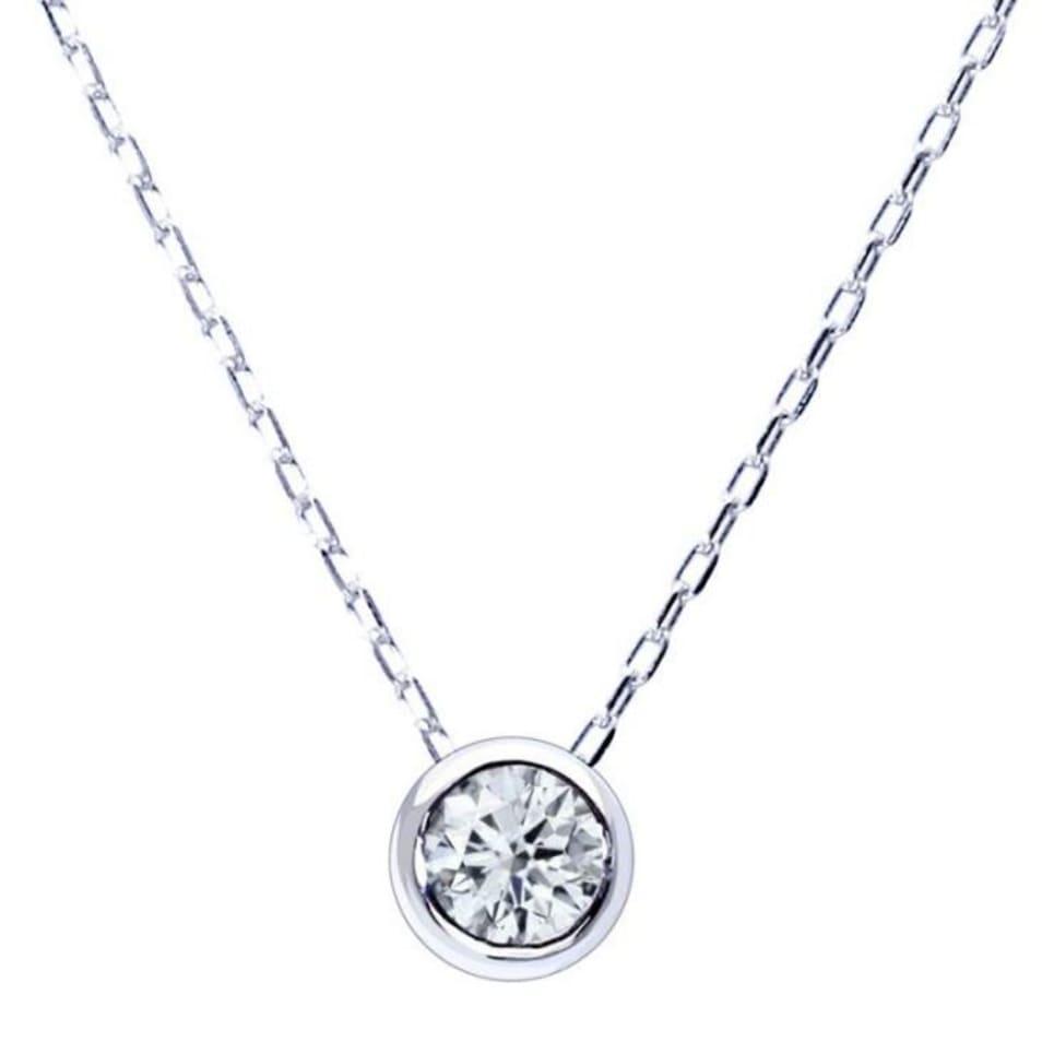 1粒 ダイヤモンド 0.1ct フクリン サニー ネックレス プラチナ Pt900 ララクリスティー