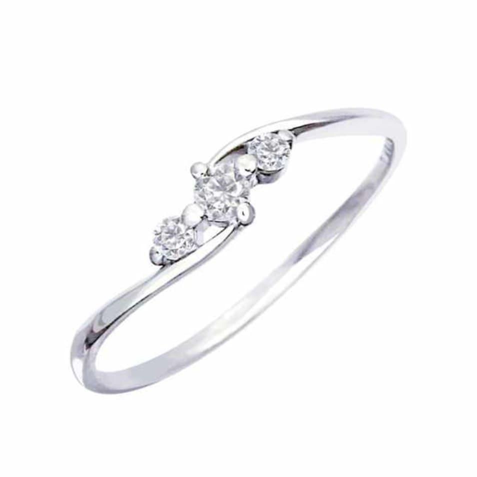 プラチナ リング 指輪 ダイヤモンド 0.1ct エターナルエンゲージリング ララクリスティー