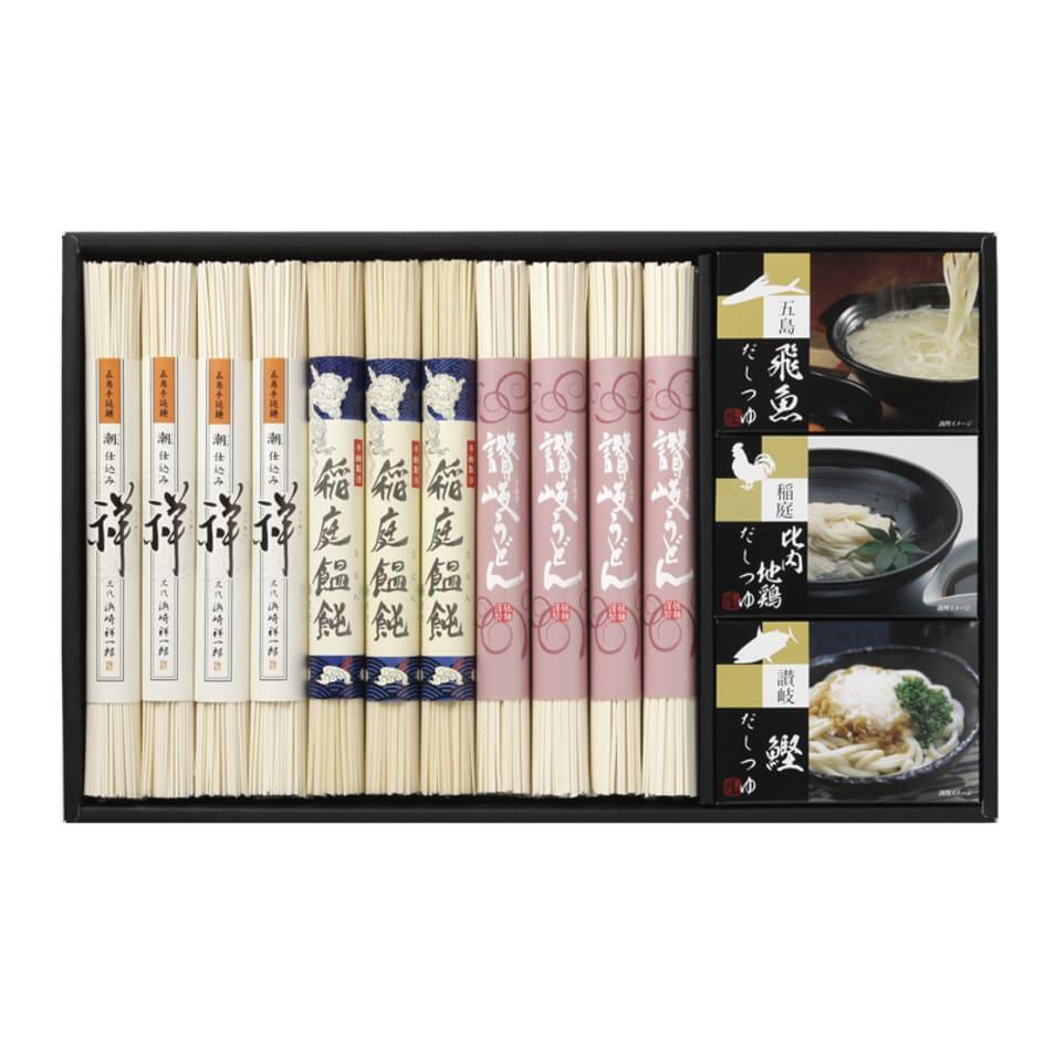 【食べ比べが楽しい】日本三大うどん・つゆ詰合せ A