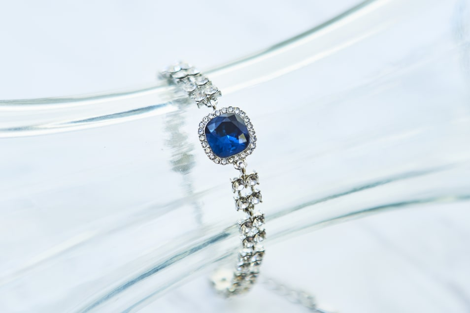 シルバー×ブルー ブレスレッド DB1820S