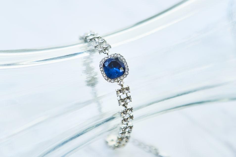 【D&X LONDON】シルバー×ブルー ブレスレッド DB1820S