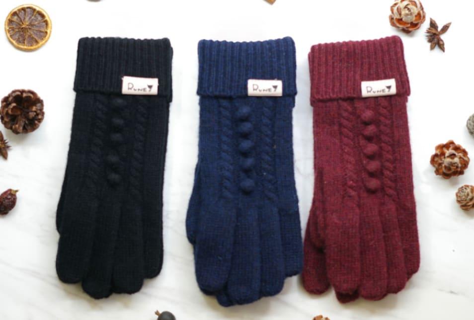 【RUNE】ケーブル編み手袋