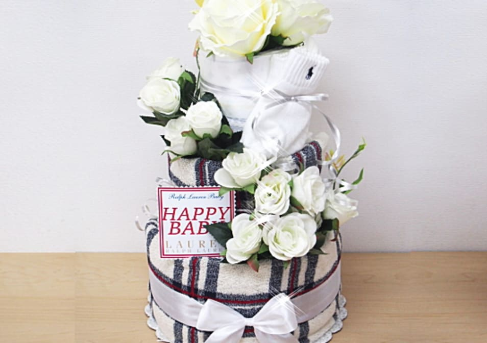 【AIRIM BABY】ralphlaurenおむつケーキ