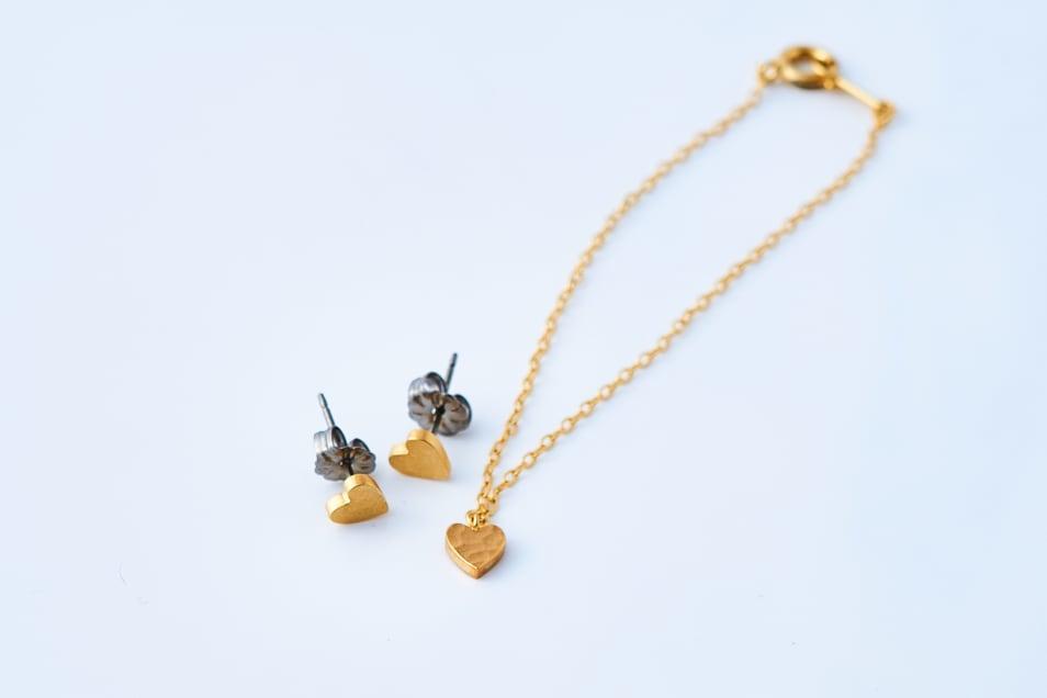 【Lanterna】Tiny Heart Posts & Bracelet