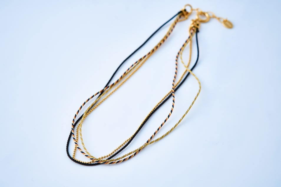 Kumihimo & Chain Bracelet