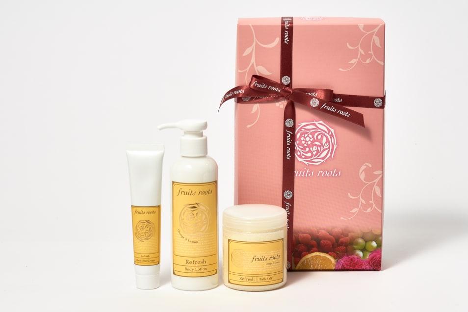 【fruits roots】Refresh ハンドクリーム & ボディローション & バスソルト