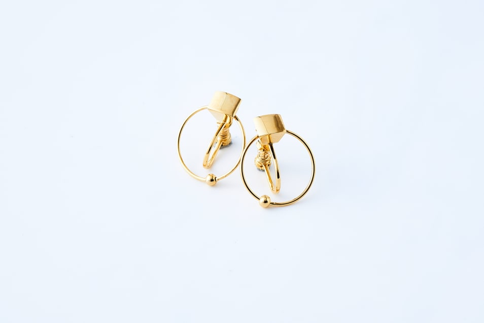 【Lanterna】Square & Hoop Earrings