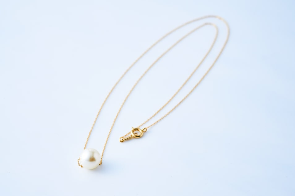 Single Pearl Long Necklace