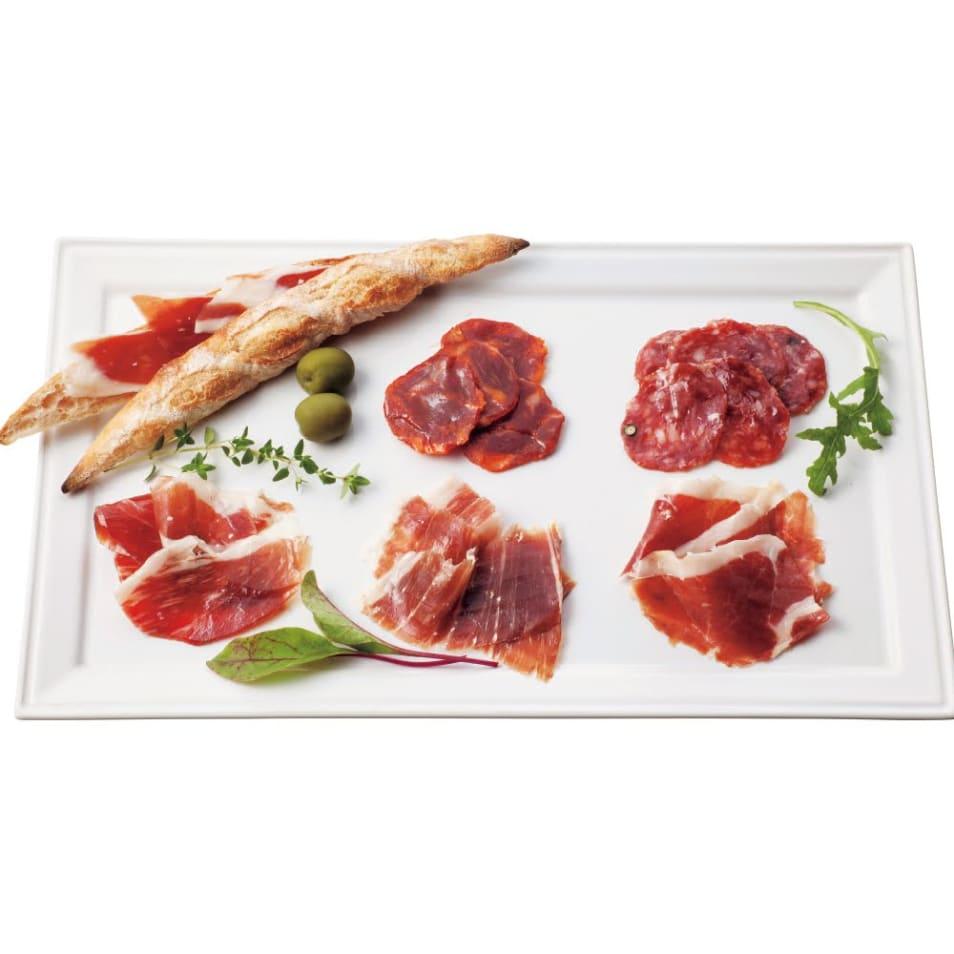 【アルトゥーロ・サンチェス】イベリコ豚生ハムとサラミ5種類セット