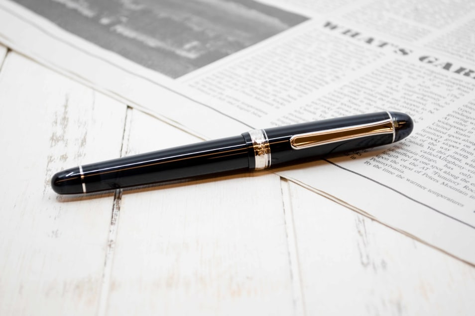 【プラチナ万年筆】万年筆♯3776 センチュリーロジウムフィニッシュ