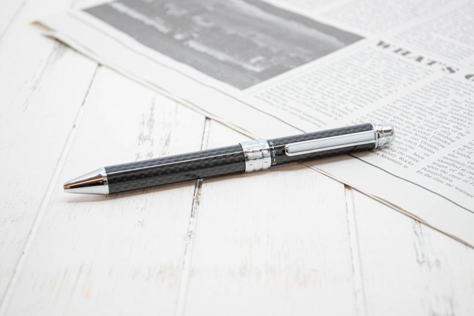 【プラチナ万年筆】多機能ペン ダブル3アクション カーボン