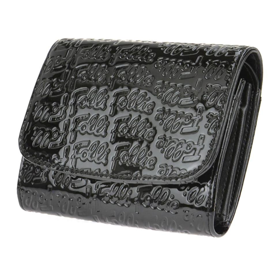 FolliFolli WA0L026SK/BLK 二つ折り財布