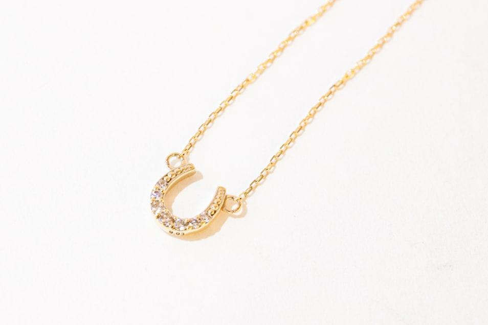 【festaria bijou SOPHIA】K10YG ダイヤペンダントネックレス