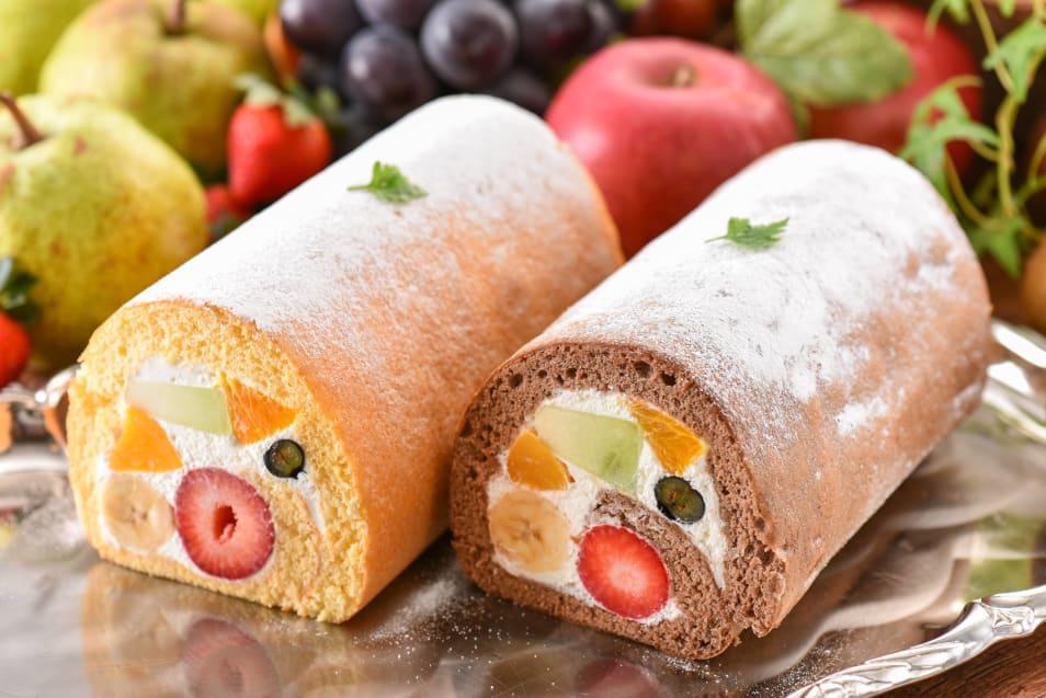 【フルーツのウメダ】フルーツロールケーキ1本入