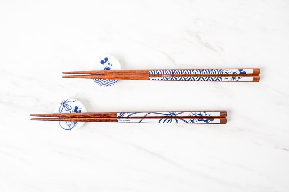 箸&箸置きペアセット(ミッキー&ミニー)