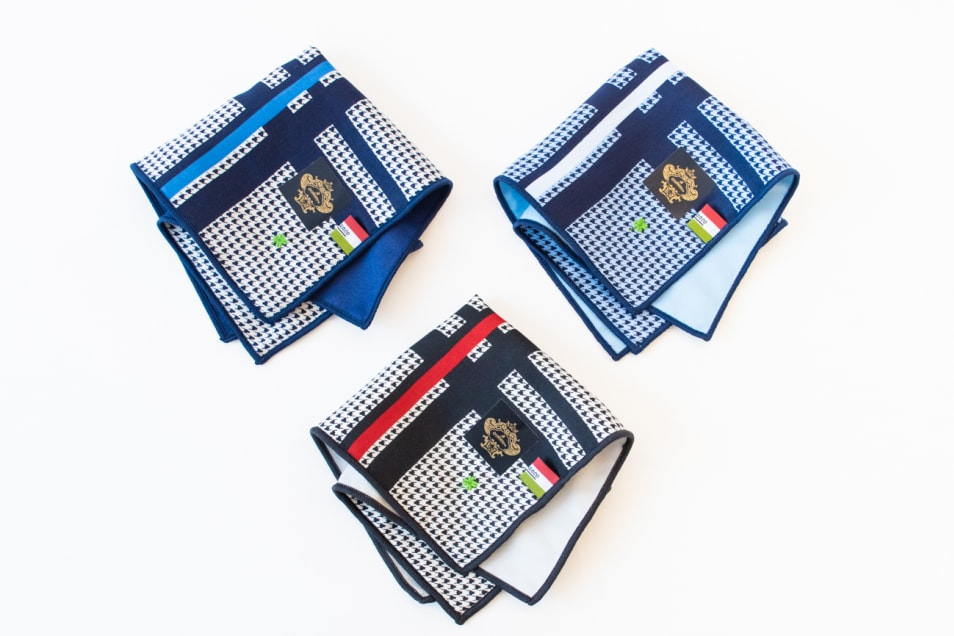 【Orobianco】マイクロファイバーハンカチ 縞模様 3枚セット