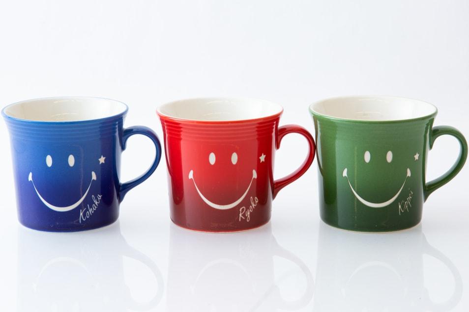 【名入れ彫刻】スマイルマグカップ