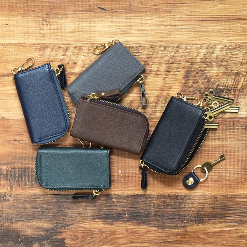 saffiano leather キーケース