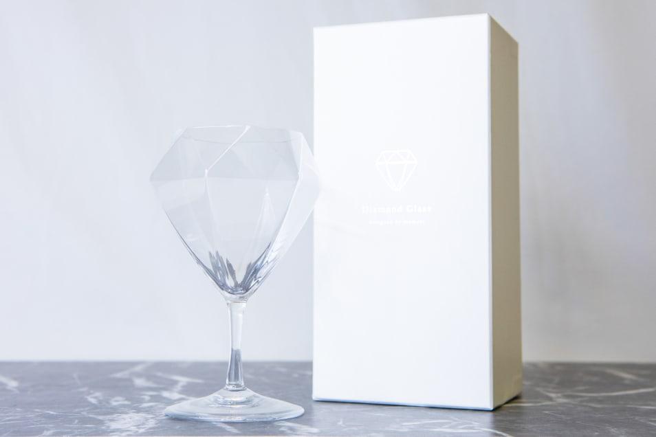 Diamond Glass-ワイングラス-ショートステムペア